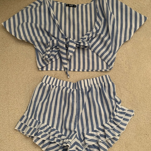 Striped linen co-ord set